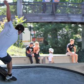 The Lineup by Roxanne Dean - Sports & Fitness Skateboarding ( skateboarding, movement, sports, action, skateboard )