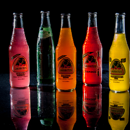 Colorful Choice by Myra Brizendine Wilson - Food & Drink Alcohol & Drinks ( food, glassware, multicolor, drinks colorful drinks, colored bottles,  )