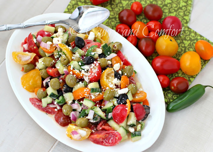 Greek Tomato and Feta Salad Recipe | Yummly
