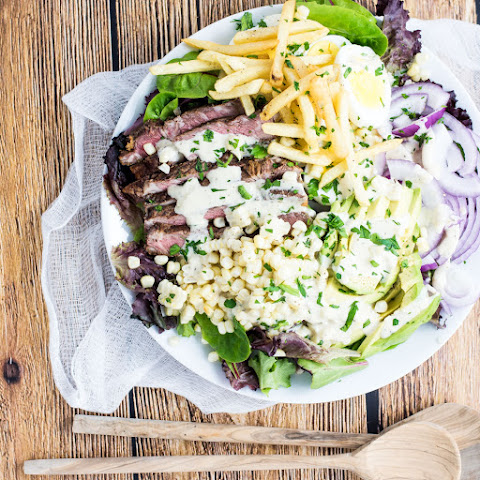 Grilled Steak Salad with Jalapeño Ranch