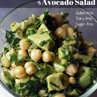 Lemony Kale Chickpea Avocado Salad