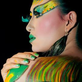 hanna  by Andi Pambudi - People Body Art/Tattoos ( potrait, fashion, art, body art, women,  )