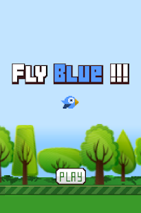 Fly Blue Bird! - screenshot
