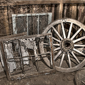 Abstract beauty by Vicki Overman - Artistic Objects Other Objects ( barn, texture, wagon wheel, window frame, junk )