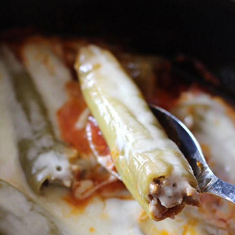 Crockpot Stuffed Banana Peppers