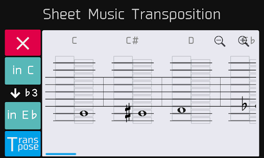 Sheet Music Transposition - screenshot