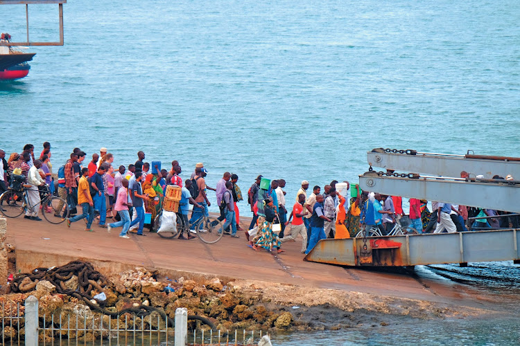 Passengers boarding the ferry