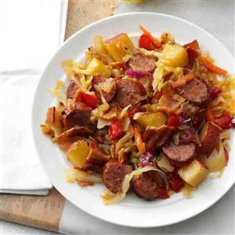 Kielbasa Hot Potato Slaw