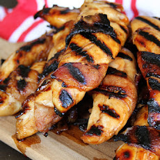 Bacon-Wrapped Teriyaki Grilled Chicken Tenders