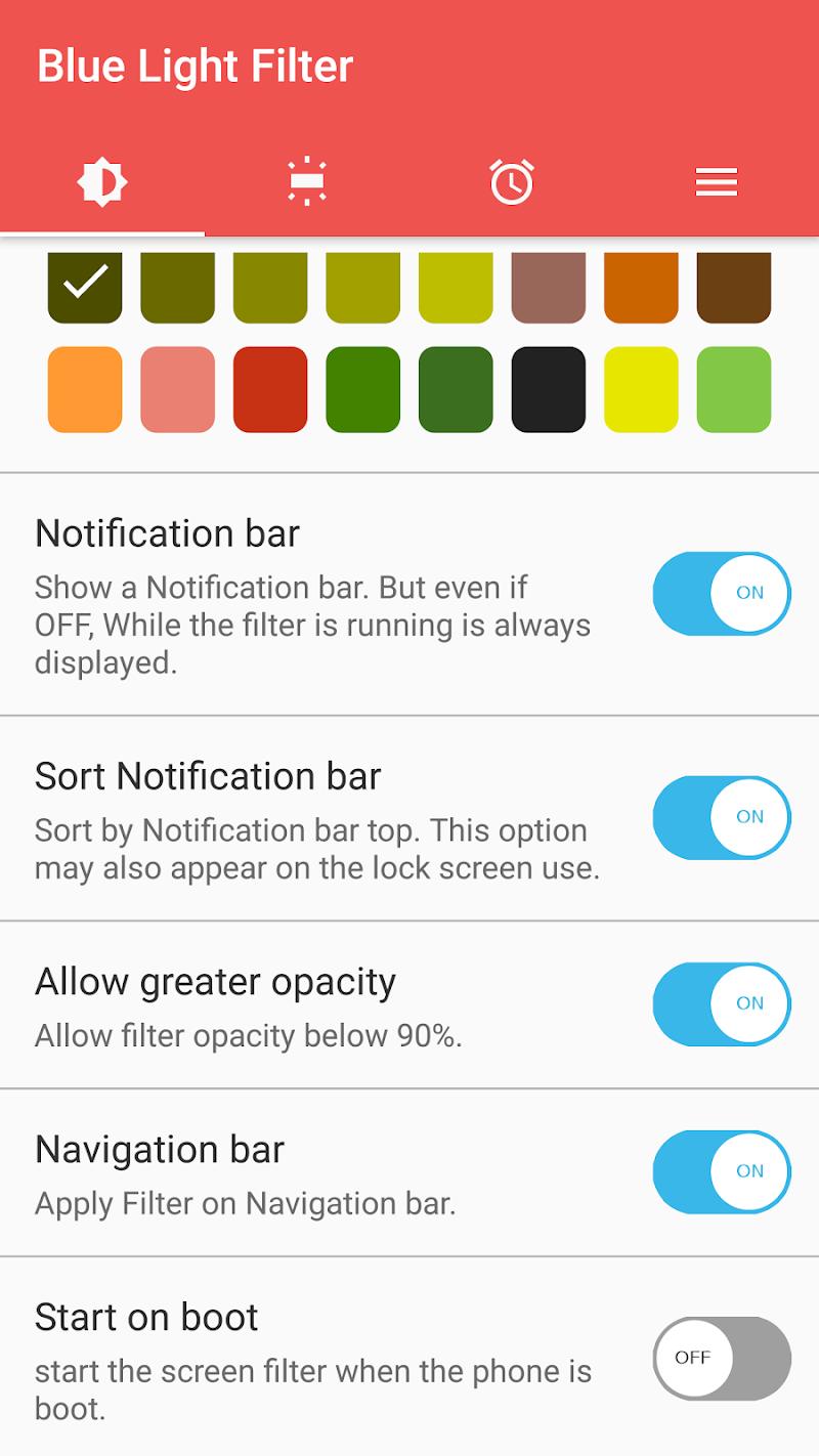 sFilter - Blue Light Filter Screenshot 2