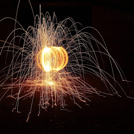 Orb Of Light by Garfie Photography - Abstract Light Painting ( light orb, light painting, steelwool ball, orb, lighting, steel wool, lightpainting, steelwool, orbs, light balls, light, light art )