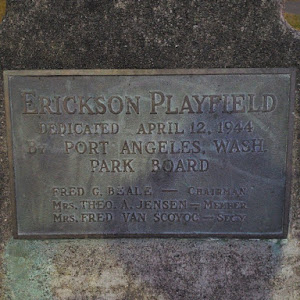 Erickson Playfield Dedicated April 12, 1944 Port Angeles, Wash. Submitted by @Ritterton
