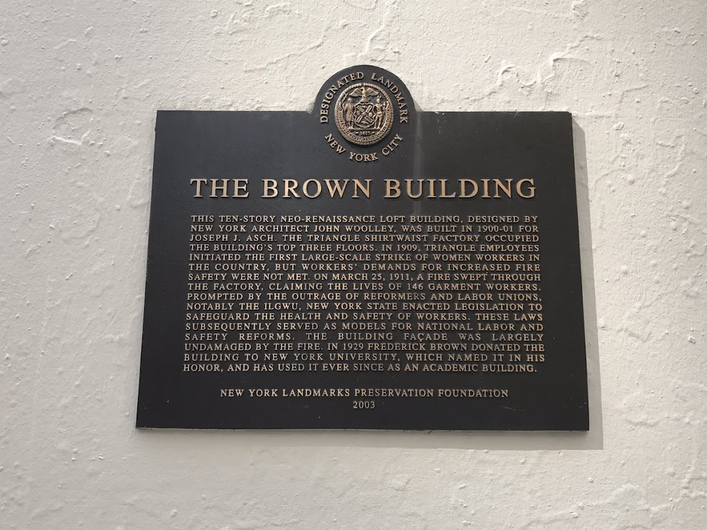 There are three plaques on the building marking very different interpretation. Submitted by @AmeliaTGrabow