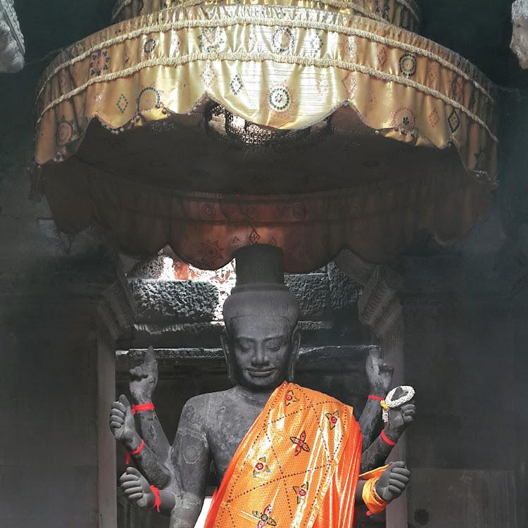 Ancient Statue, Angkor Wat