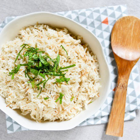 Coconut Spiced Rice in the Rice Cooker