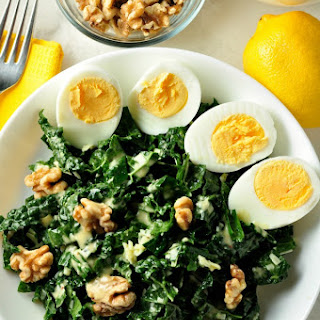 Kale, Manchego Cheese and Walnut Salad