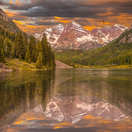 Maroon Bells Snowmass Wilderness by Andy Taber - Landscapes Mountains & Hills (  )