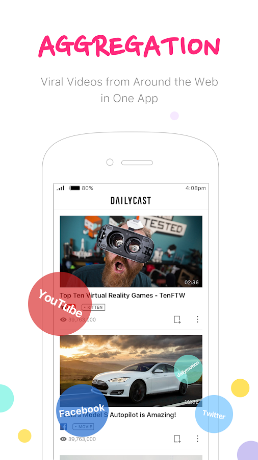 DailyCast+ Fun Video Aggregate Screenshot 0