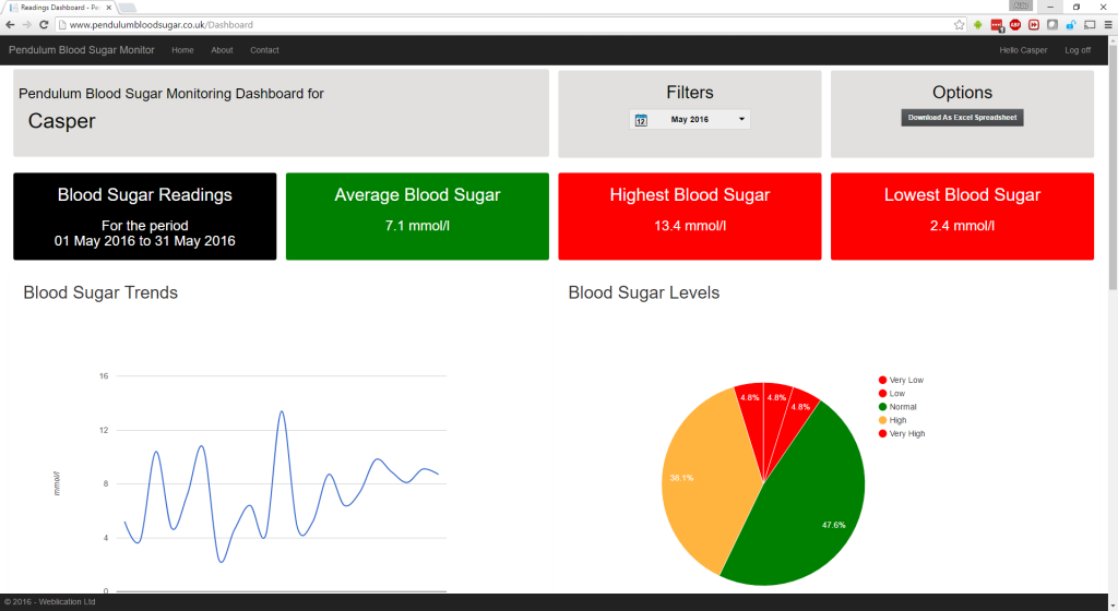 Pendulum Blood Sugar Monitor Screenshot 7