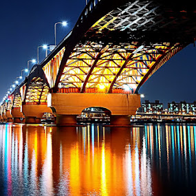 Robot bridge on the night  by Khoirul Huda - Buildings & Architecture Bridges & Suspended Structures