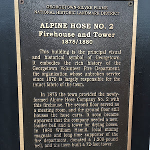 ALPINE HOSE NO. 2 Firehouse and Tower 1875/1880 This building is the principal visual and historical symbol of Georgetown.It embodies the rich history of theGeorgetown Volunteer Fire Department,the ...