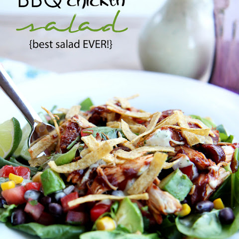 BBQ Chicken Salad {best salad ever!}