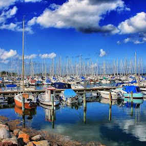 Kerteminde Harbor by Ingrid Dendievel - Landscapes Waterscapes ( harbor, waterscape, boats, sea, kerteminde, denmark )
