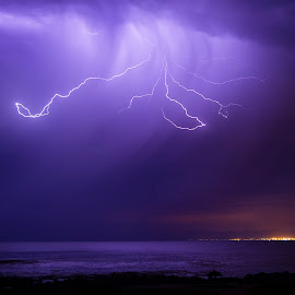 Cape of Storms by Issi Potgieter - Landscapes Weather ( thunder, thunderstorm, seascape, rain, nightscape )