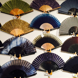 Japanese Fans 3 by Lope Piamonte Jr - Artistic Objects Other Objects