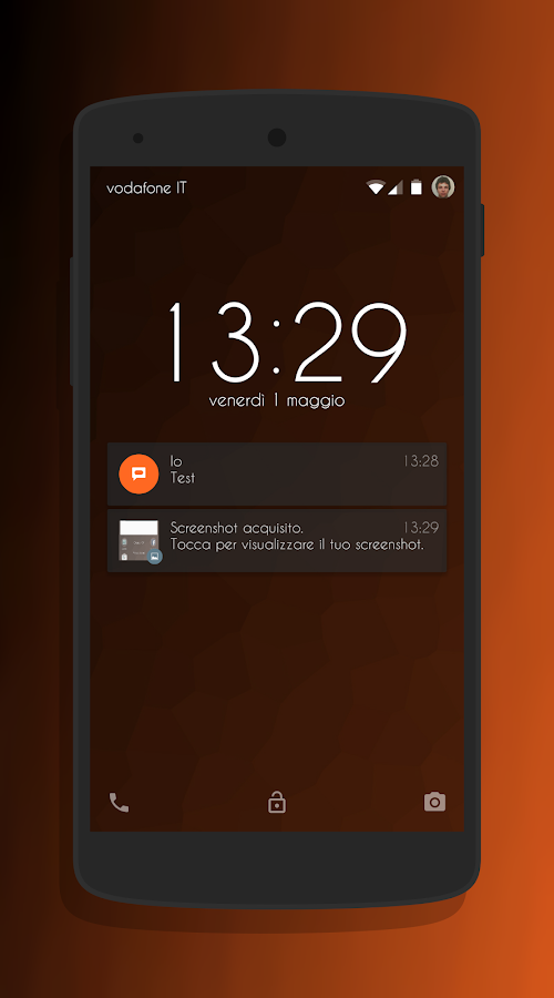 Transparent Orange -CM13 Theme Screenshot 4