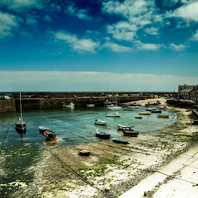 Cornwall Mousehole Uk by Claudiu Bichescu - Landscapes Beaches