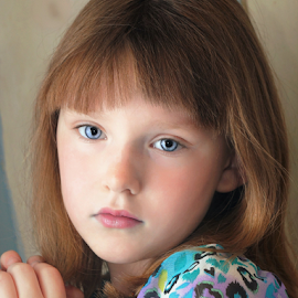 Discovering Bangs by Cheryl Korotky - Babies & Children Child Portraits