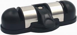 Точилка для ножей (ножеточка) двухзонная настольная стальная, с вакуумным креплением к столу