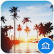 Warm blue landscape theme