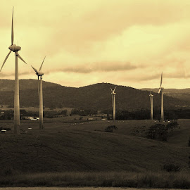 Wind Turbines by Sarah Harding - Novices Only Landscapes ( outdoors, novices only, power, architecture, landscape )