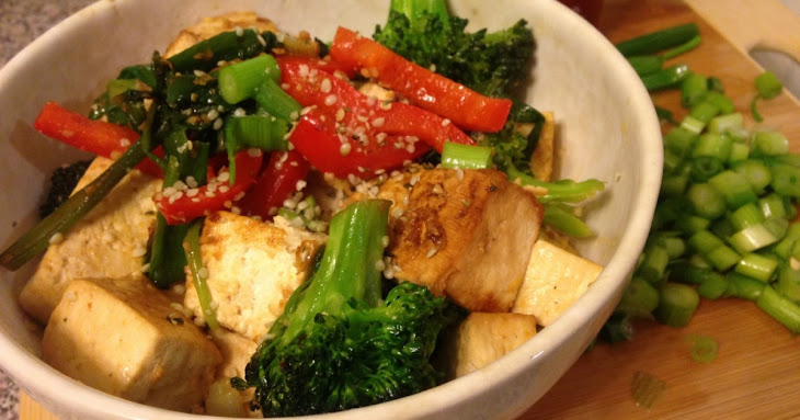 stir fried tofu recipe with scallions pork tofu and eggplant stir fry ...