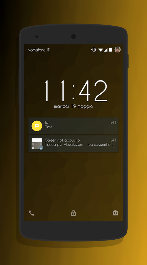 Transparent Gold - CM13 Theme Screenshot 4