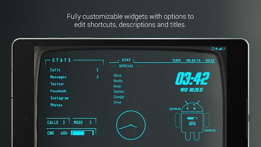Pip-Tec Blue Icons & Live Wall - screenshot