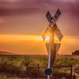 by Kelley Hurwitz Ahr - Artistic Objects Signs ( kelley ahr, july 2015, stock photography, stock images, fourth of july, sunset, kelley photology, uvalde )