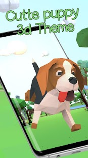 Cute puppy theme wallpaper (3D animation effects)