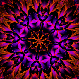 by Nicole Miinch - Digital Art Abstract ( kaleidoscope, colorful, 3d, digital art, psychedelic )