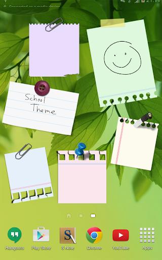 Sticky Notes Theme School - screenshot