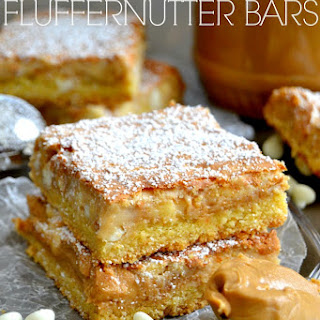 White Chocolate Fluffernutter Bars