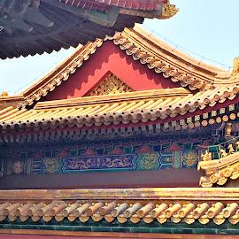 toit colore de temple by Nathalie Coget - Buildings & Architecture Architectural Detail