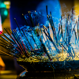 Color by Upul.C. Dayawansa - Artistic Objects Other Objects ( color, tampel, travel, slow shutter, smoke )