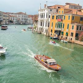Canale Grande - Venice by Iulian Cahul - City,  Street & Park  Street Scenes ( venice )