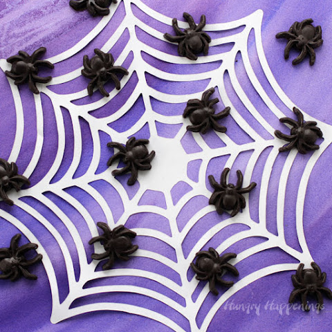 Creepy Halloween Treats - Black Caramel Spiders