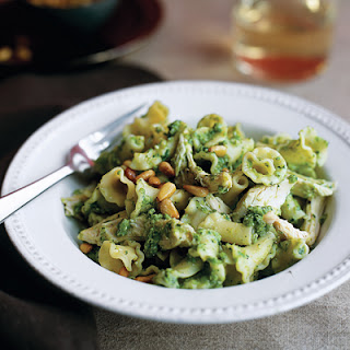Campanelle with Chicken and Pea-Mint Pesto