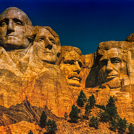 Mount Rushmore by Stanley P. - Buildings & Architecture Statues & Monuments ( monuments, statues, architecture )
