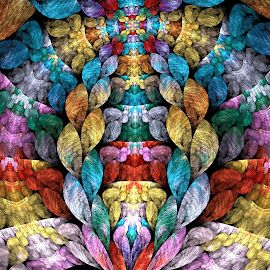 Arc of Color by Peggi Wolfe - Illustration Abstract & Patterns ( abstract, wolfepaw, bright, color, arc, fun, fractal, digital, rainbow )